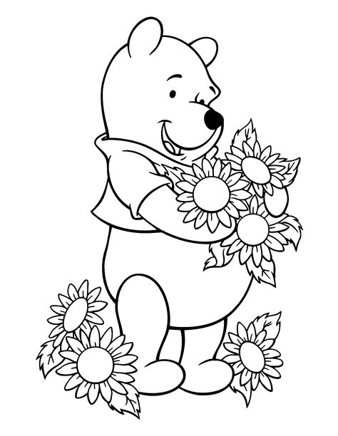 Free Coloring Pages Of Girls Pooh