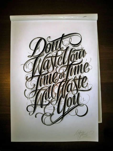Typography Don't Waste Time!  Typography, Calligraphy