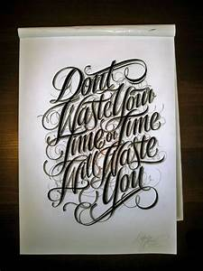 Typography: Don't Waste Time! | Typography, Calligraphy ...
