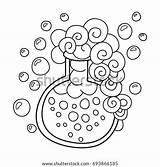 Potion Coloring Magic Doodle Anti Children Stress Vector Adults Shutterstock Bottle sketch template