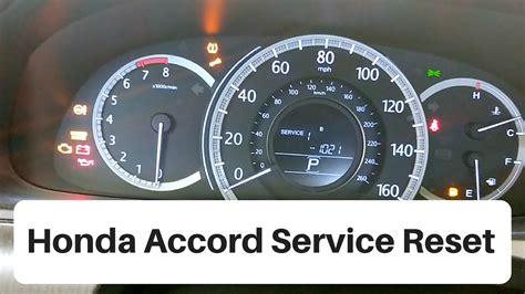 honda accord service light reset youtube