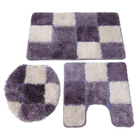bath rug set hamilton 3 shaggy bath rug set purple