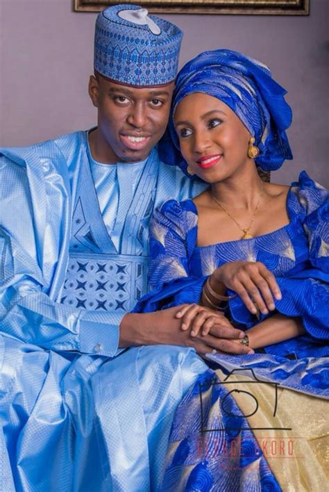 Hausa Couple From Nigeria African Wedding Dress