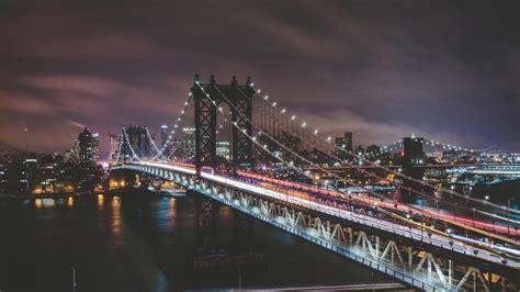 manhattan bridge  night hd wallpaper wallpaper studio