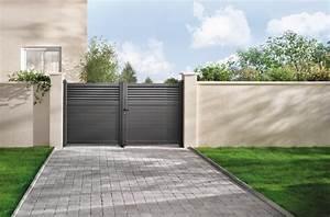 Portail Brico Depot 4m : portail aluminium battant vento gris anthracite l 3 06 x h 1 60 m brico d p t ~ Farleysfitness.com Idées de Décoration