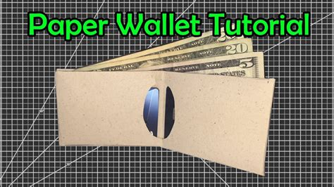slim paper wallet easy origami youtube