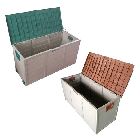 new garden outdoor plastic utility storage chest shed box