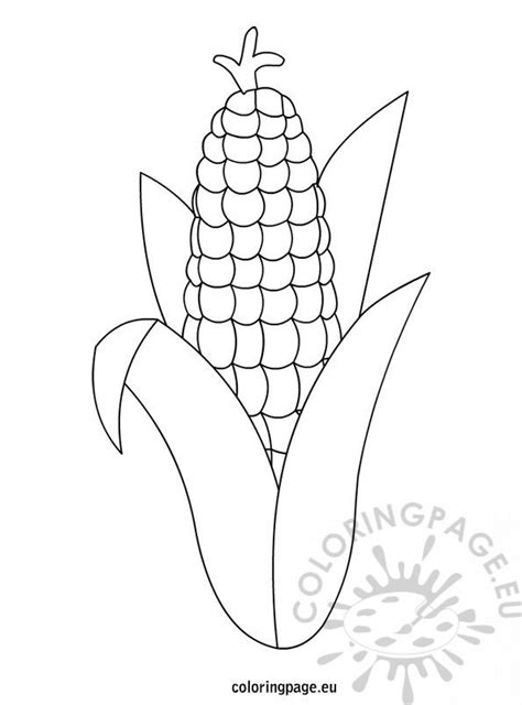 thanksgiving corn template coloring page
