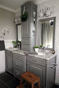 25, Inspiring, Traditional, Tall, Bathroom, Cabinet, Ideas, To