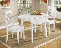 white kitchen table and chairs White Round Kitchen Table and Chairs Design | HomesFeed