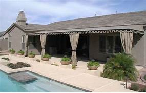 Patio Awnings Outdoor Drapes Traditional Pool Phoenix By Swimming Pools Inground Swimming Pool Fiberglass Swimming Cool Outdoor Shower Near Swimming Pool Paired With White Curtains Also Long And Big Curtains With Outdoor Curtain Panels On Gazebo Near Pool