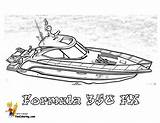 Coloring Boat Boats Ship Ships Motor Fishing Formula Power Bass Yescoloring Sheets Template Clipart Colouring Rugged Speed Printable Army Fx sketch template
