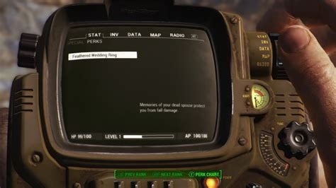 fallout 4 feathered wedding ring mod youtube