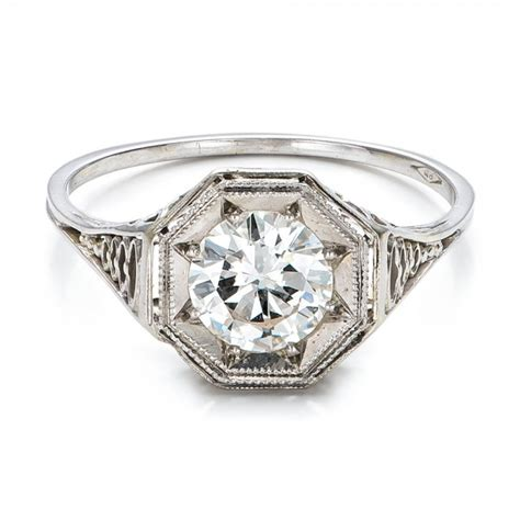 estate solitaire deco engagement ring 100900 bellevue seattle joseph jewelry