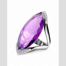 Lyst  Forzieri Amethyst And Diamond White Gold Fashion