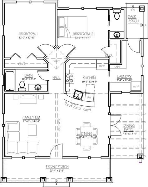 2 bedroom 1 bath craftsman style house plan 2 beds 1 50 baths 1044 sq ft 13924 | w1024