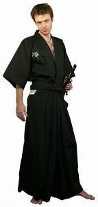 Japanese cotton embroidered short kimono Zen. Japanese ...