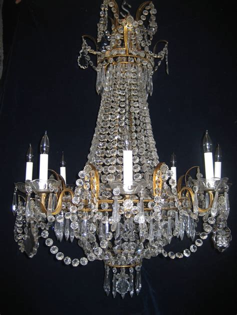 antique chandelier set of three antique louis xvi style gilt and