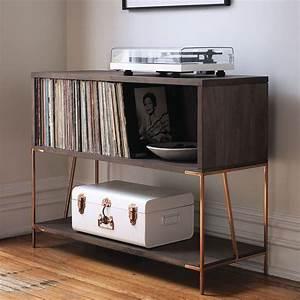 Meuble Platine Vinyle Vintage : rangement vinyle fonctionnel et l gant en 35 id es inspirantes ~ Teatrodelosmanantiales.com Idées de Décoration