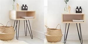 Casa Table De Chevet : fabriquer une table de chevet nos id es marie claire ~ Teatrodelosmanantiales.com Idées de Décoration