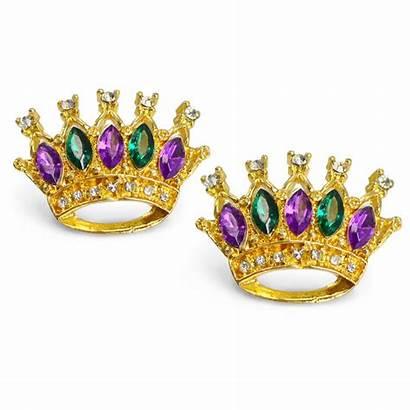 Crown Earrings Jeweled Mardigrasoutlet
