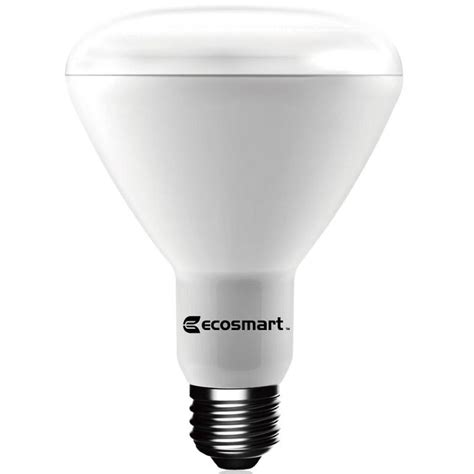 what are led light bulbs ecosmart 65w equivalent daylight br30 dimmable led light