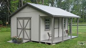 building a shed roof porch workshop plans with porch With backyard buildings llc