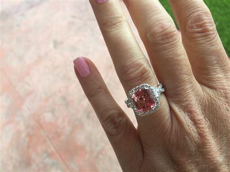 pink padparadscha sapphire weddingbee pink padparadscha sapphire weddingbee