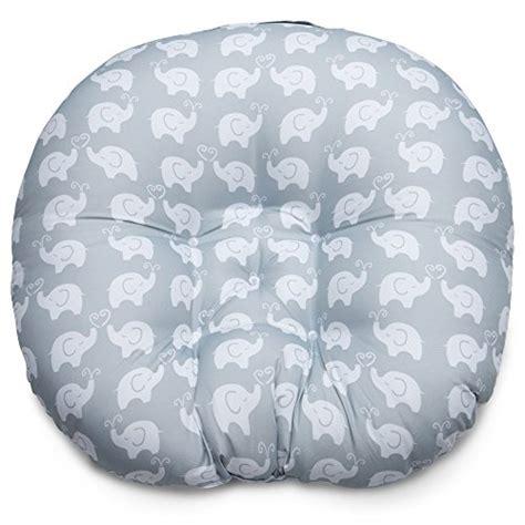 Boppy Baby Chair Elephant Walk Gray by Boppy Newborn Lounger Elephant Gray Baby Care