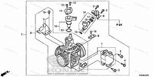 Honda Motorcycle 2016 Oem Parts Diagram For Throttle Body