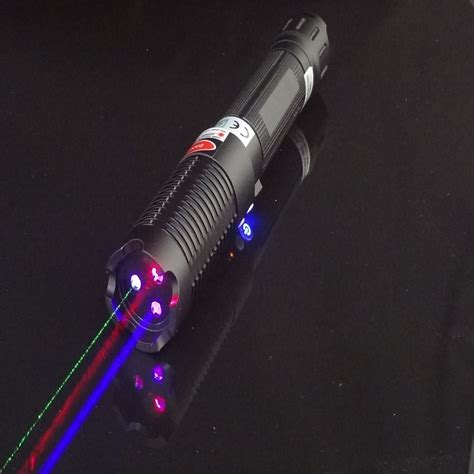 laser light pointer 5000mw 3 color separate high power blue green