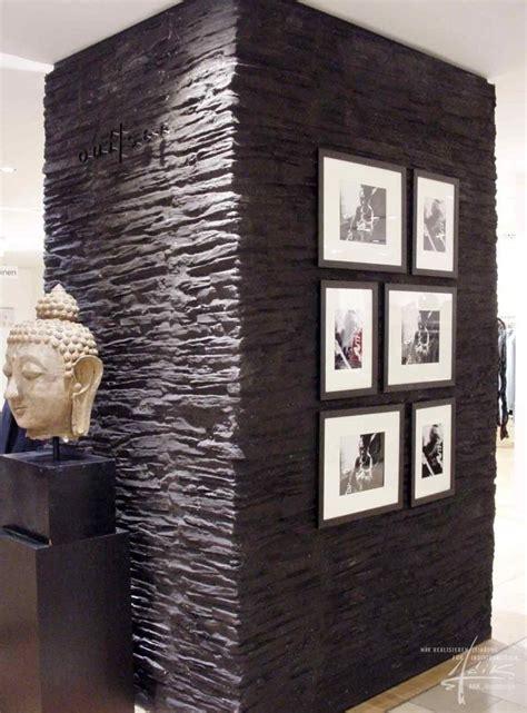 Schiefer Wand Wohnzimmer by Schieferwand Projekt Physiotherapie Steinwand