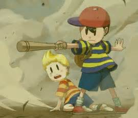 Earthbound Mother Ness and Lucas