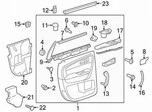 Chevrolet Traverse Door Window Belt Weatherstrip  Rear
