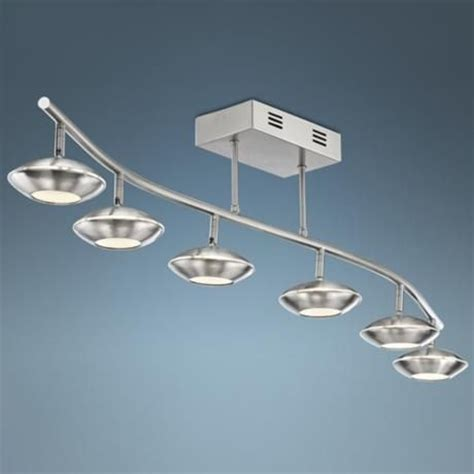 led track lighting for kitchen pro track thurston 6 led track light kit in brushed steel 8970
