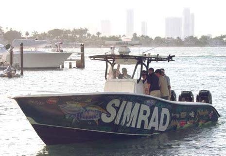 34 Yellowfin Miami Boat Show by Panbo The Marine Electronics Hub Speeding W Simrad