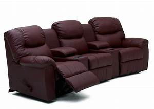 palliser regent three recliner home theater sectional With home theater reclining sectional sofa