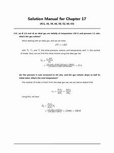Solution Manual For Chapter 17