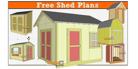 free small shed plans free shed plans with drawings material list free pdf