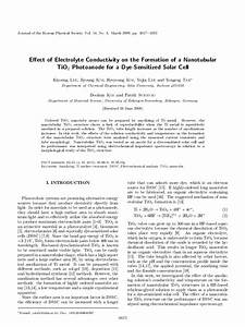 Effect Of Electrolyte Conductivity On The Formation Of A