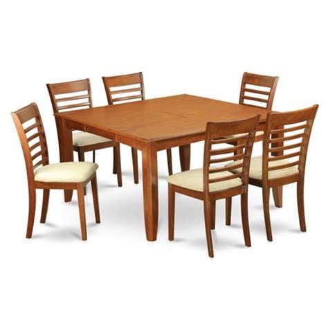 east west furniture parf7 sbr w 7 parfait east west furniture pfml7 sbr c 7 parfait square