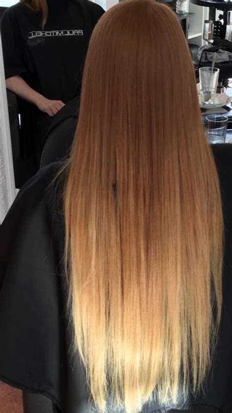 ombre natural red  blonde hair pinterest red