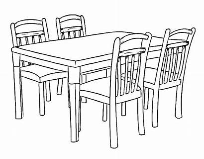 Coloring Dining Pages Table Cozy Dinner Printable