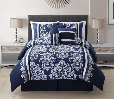 bedroom elegant navy blue comforter  bedroom