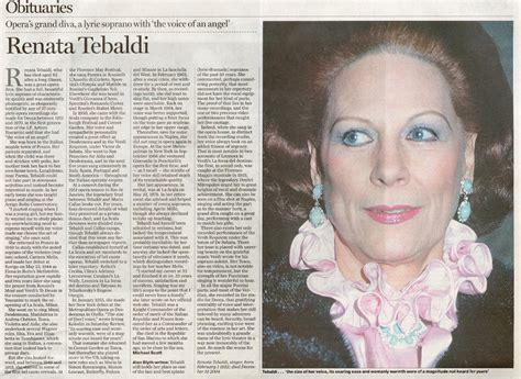 Tribute To Renata Tebaldi