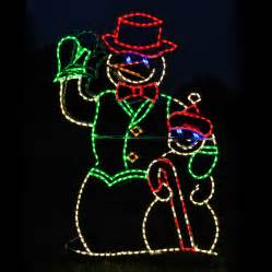 shop holiday lighting specialists 4 ft animated waving snowman outdoor christmas decoration with