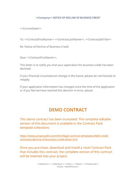 sample letter reject credit application jidiletterco