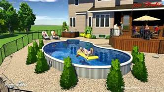 In Ground Pool Decks Designs by 16 X 32 Kidney Semi Inground Design By Rideau Pools Ottawa