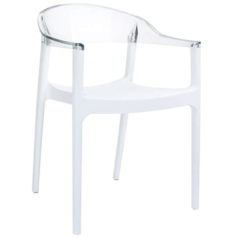 chaise design transparente chaise design ema blanche et transparente chaise moderne