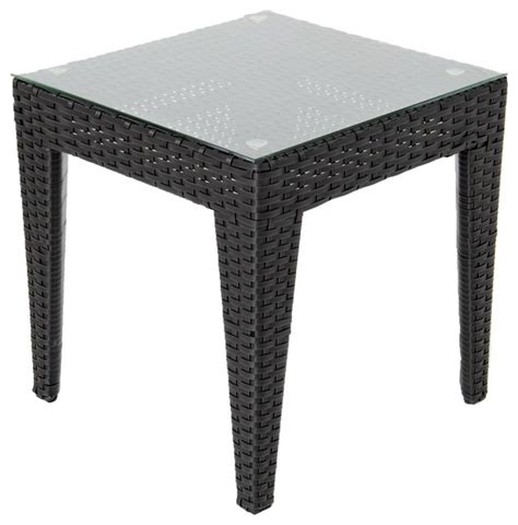 outdoor resin wicker end table providence resin wicker patio end table contemporary